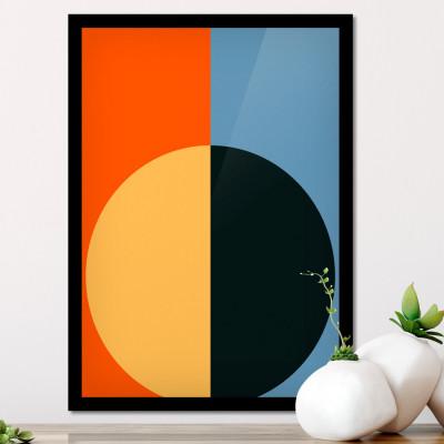 Quadro Decorativo Arcos Abstratos Coloridos