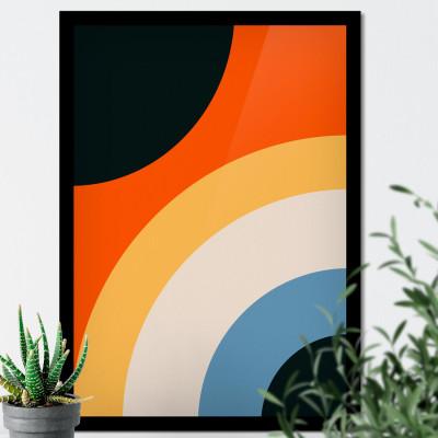 Quadro Decorativo Círculos Abstratos Coloridos