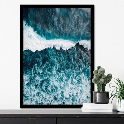 Quadro Decorativo Mar Agitado (Ondas)