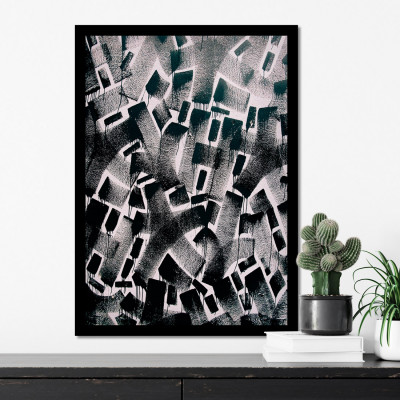 Quadro Decorativo de Parede Pintura Abstrata