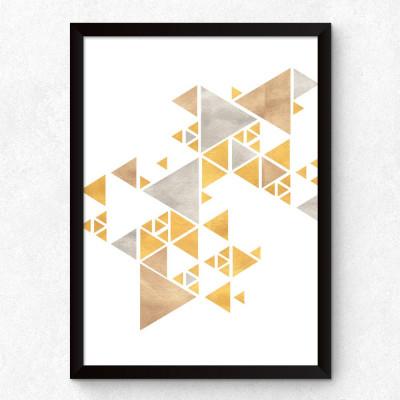 Quadro Decorativo Abstrato Triângulos II