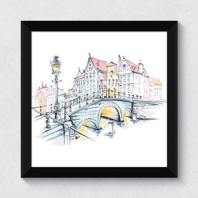 Quadrinho Decorativo Bruges Bélgica