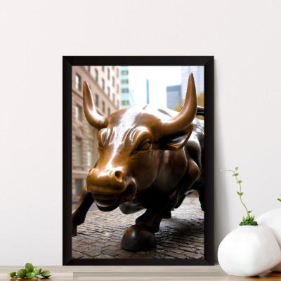 Quadro Decorativo Touro de Wall Street
