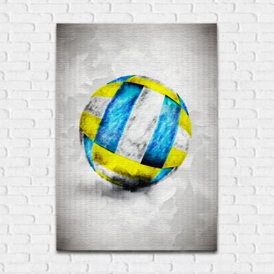 Quadro Decorativo Bola de Vôlei Aquarela - Em Canvas