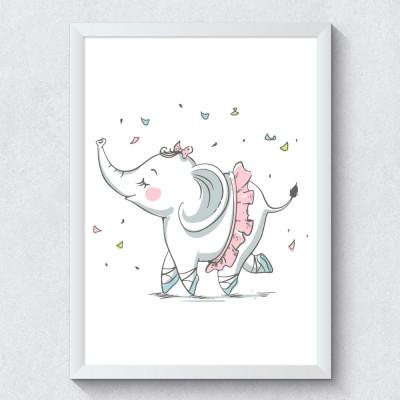 Quadro Decorativo Infantil Elefantinha