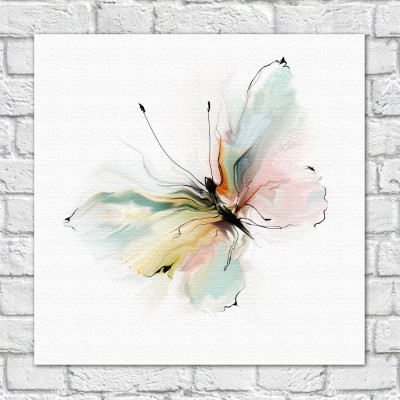 Quadro Decorativo Borboleta Pintura - Em Canvas