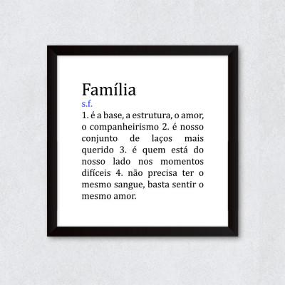 Quadro Decorativo Família Significado
