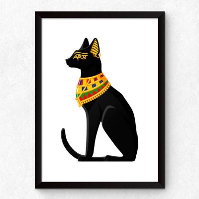 Quadro Decorativo Gato Egípcio