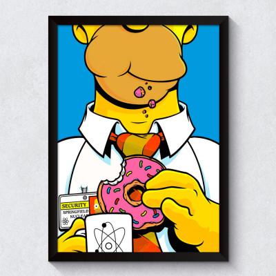 Quadro Decorativo Homer Simpson