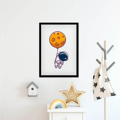 Quadro Decorativo Astronauta Abstrato