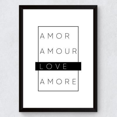 Quadro Decorativo Minimalista Love