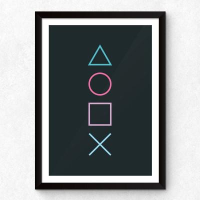 "Quadro Decorativo Minimalista ""PlayStation"""