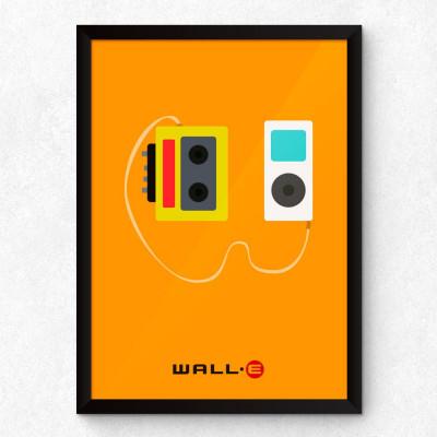 Quadro Decorativo Minimalista Wall-E