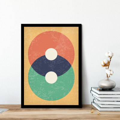Quadro Decorativo Abstrato Geométrico Círculos