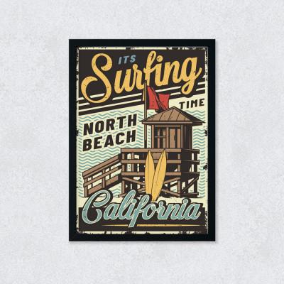 Quadro Decorativo Surfing Califórnia