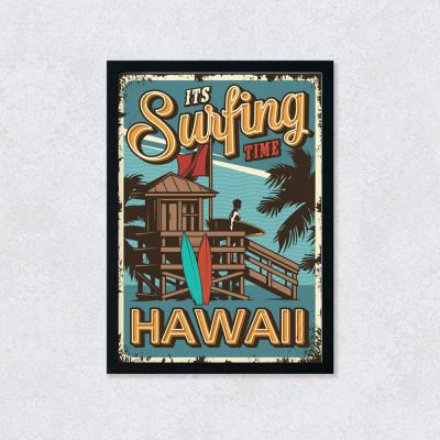 Quadro Decorativo Surfing Hawaii