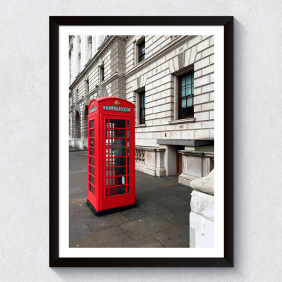 Quadro Decorativo Telefone Vermelho