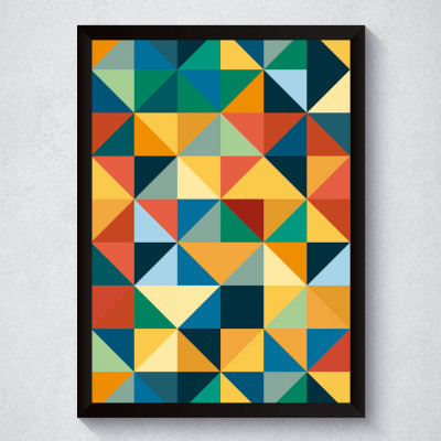 Quadro Decorativo Geométrico Colorido