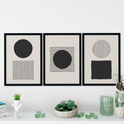Conjunto de Quadros Decorativos Silhueta Mulher Arte Moderna