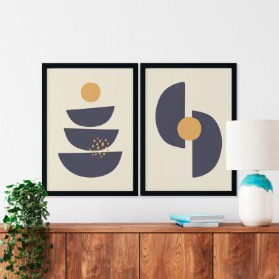 Conjunto de Quadros Decorativos Semi Círculos