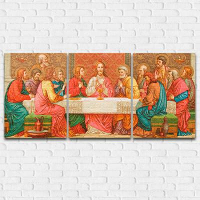 Quadro Decorativo A Santa Ceia - Em Canvas