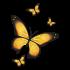 Adesivo de Parede Borboletas Amarelas