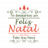 Adesivo de Parede Decorativo Feliz Natal e Ano Novo