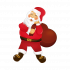 Adesivo de Parede Decorativo Papai Noel