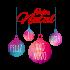 Adesivo de Parede Bolas de Natal Coloridas