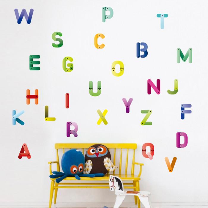 Adesivo de Parede Alfabeto II
