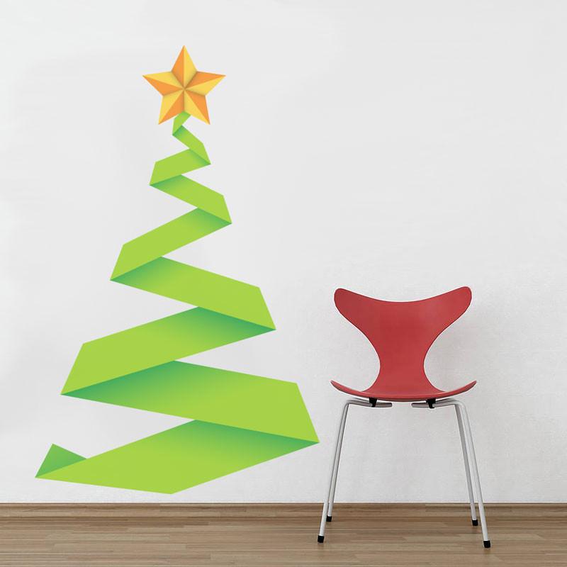 Adesivo de Parede Árvore de Natal Abstrata