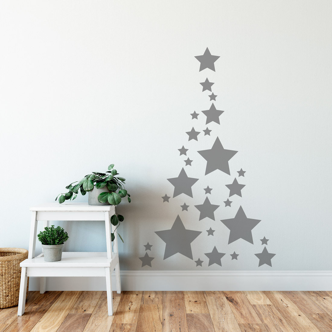 Adesivo de Parede Árvore de Natal Estrelas