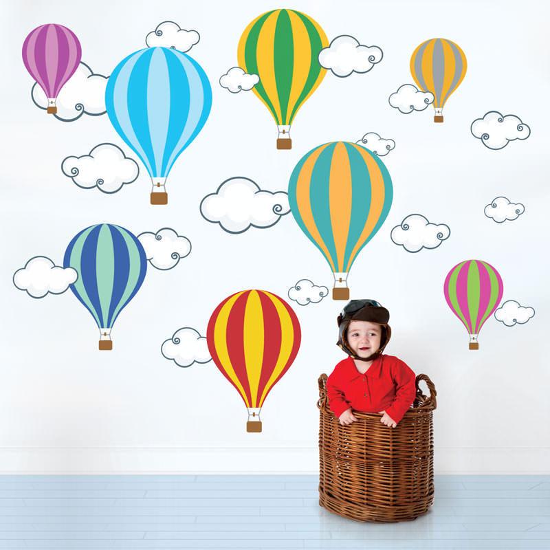 Artesanato Holandes ~ Adesivo de Parede Balões bemColar Adesivos De Parede