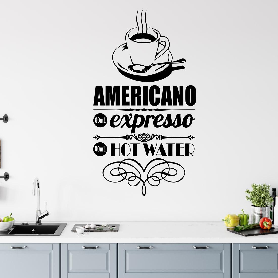 Adesivo de Parede de desenho de Café