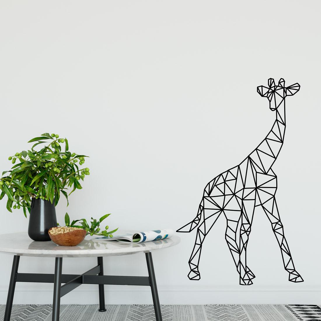 Adesivo de Parede Girafa Poligonal
