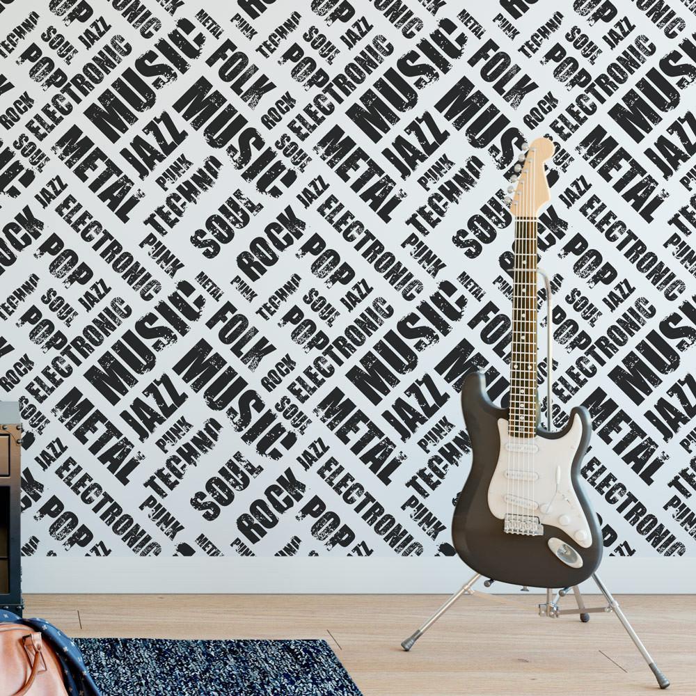 Papel De Parede Rock N Roll Modelo Exclusivo Bemcolar -> Papel De Parede Para Sala Rock N Roll