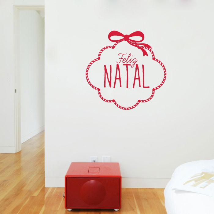 Adesivo Decorativo Guirlanda Feliz Natal
