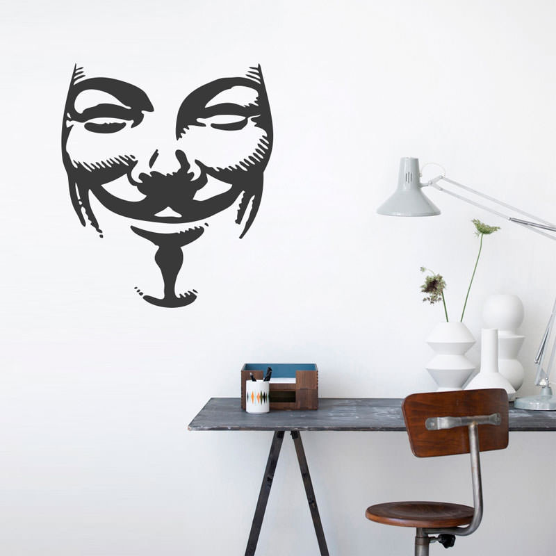 Adesivo Decorativo Guy Fawkes