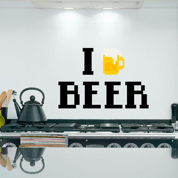 Adesivo De Parede I Love Beer