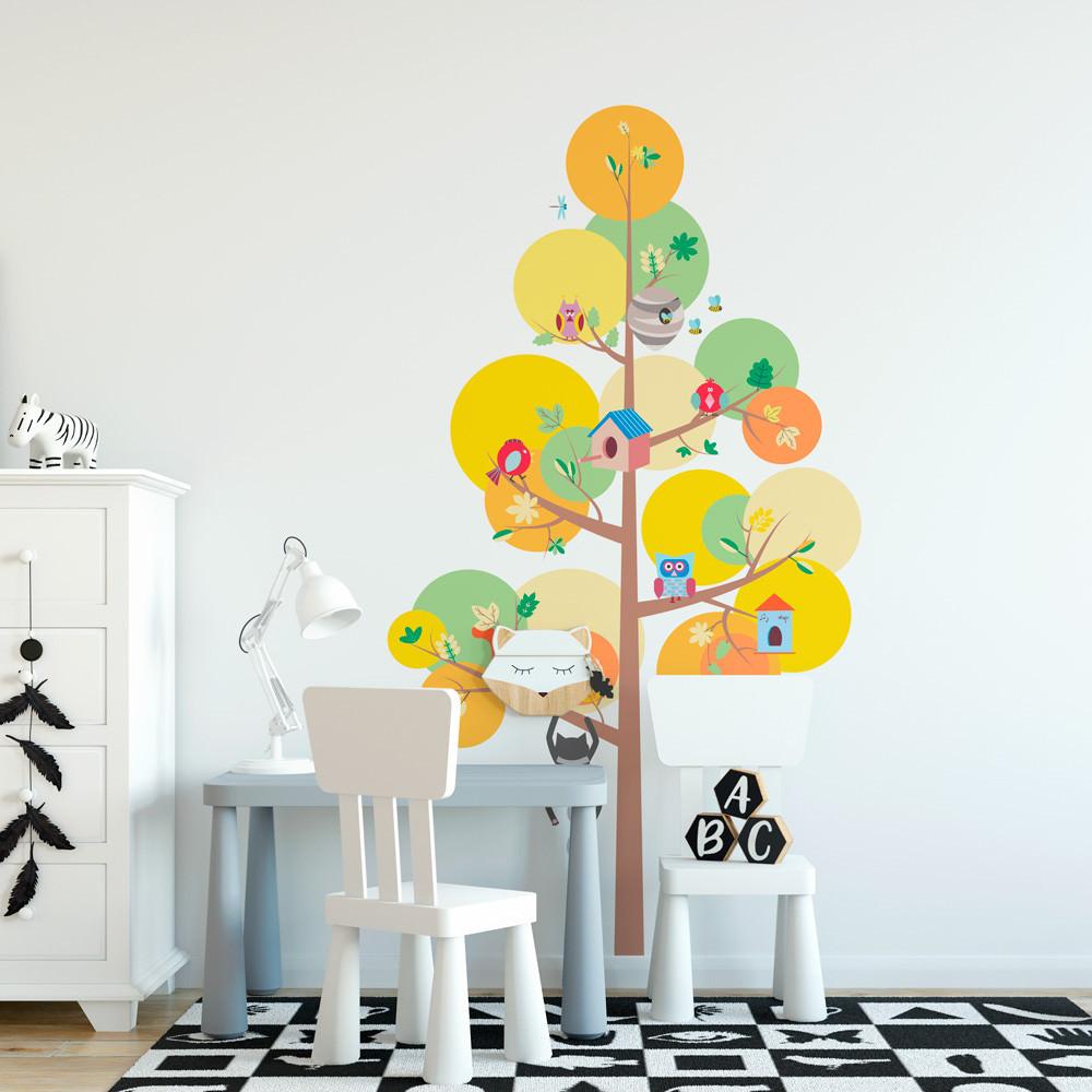 Adesivo de Parede Infantil Árvore de Bolinhas Coloridas