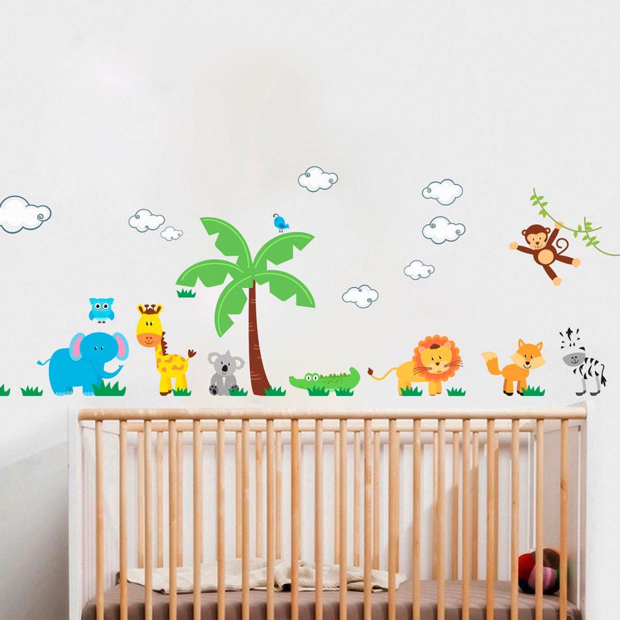 Adesivo de Parede Floresta Infantil