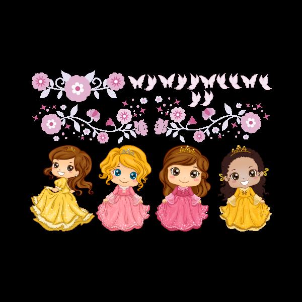Adesivo Decorativo Kit Princesas