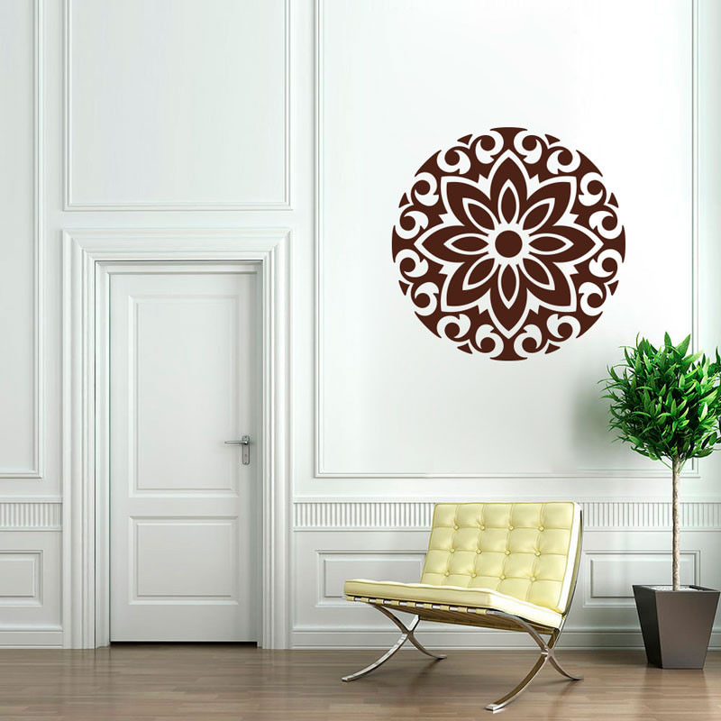 Adesivo de Parede Mandala Flor Ixoria