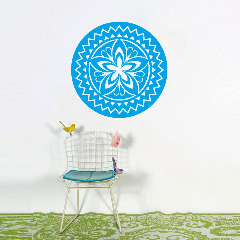 Adesivo de Parede decorativo Mandala Flor