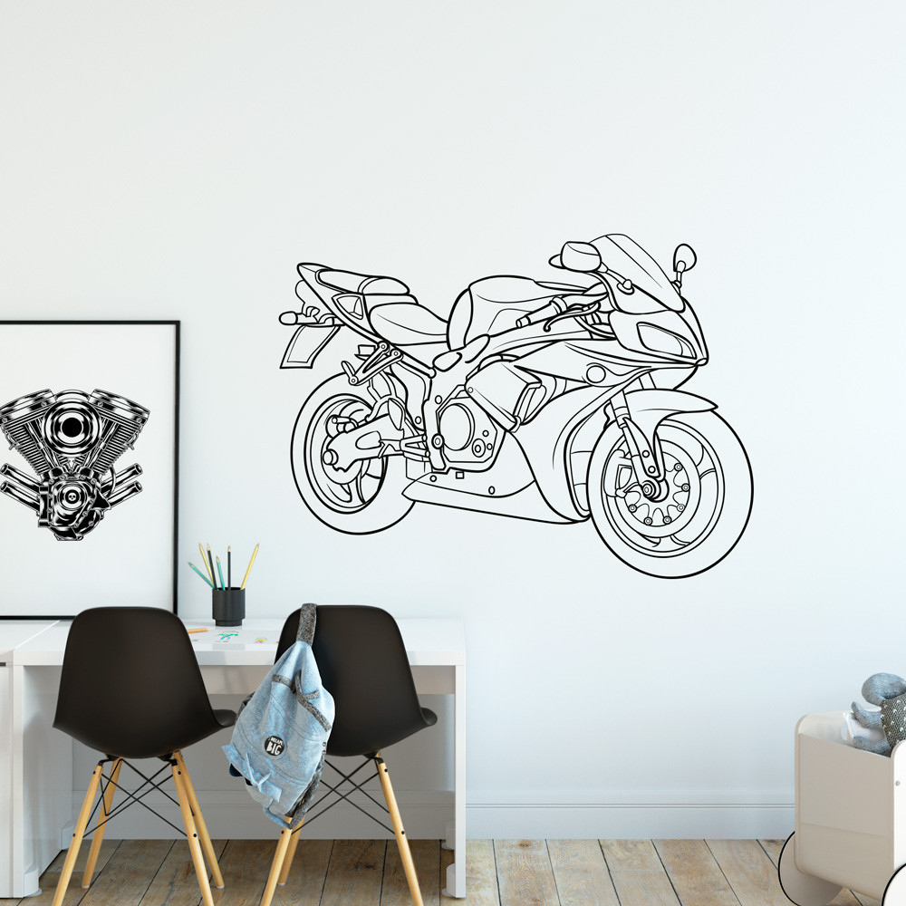 Adesivo de Parede Moto