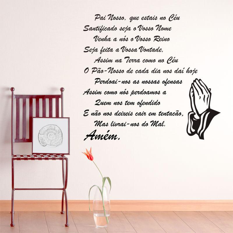 Adesivo Decorativo de Parede Oração do Pai Nosso