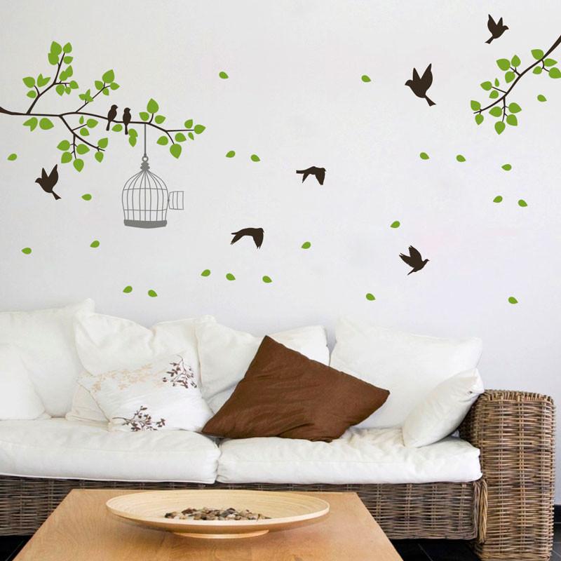 Adesivo de Parede Pássaros e Galhos bemColar Adesivos  ~ Adesivo De Parede Para Quarto Casal Romantico