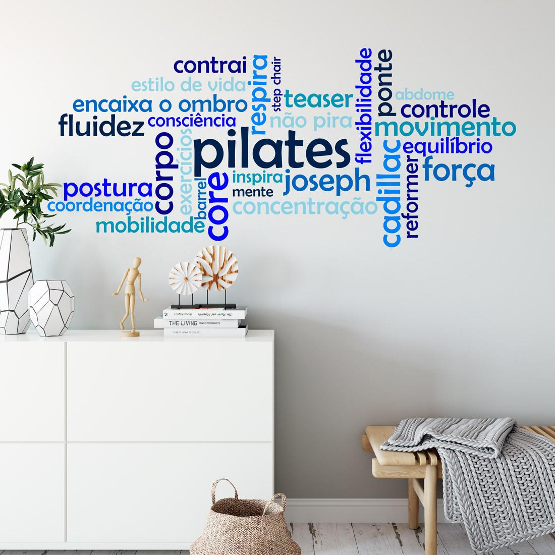 Adesivo de Parede Pilates Nuvem