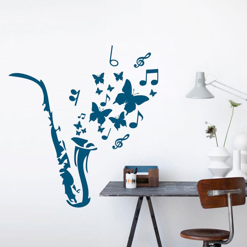 Adesivo de Parede Decorativo Saxofone