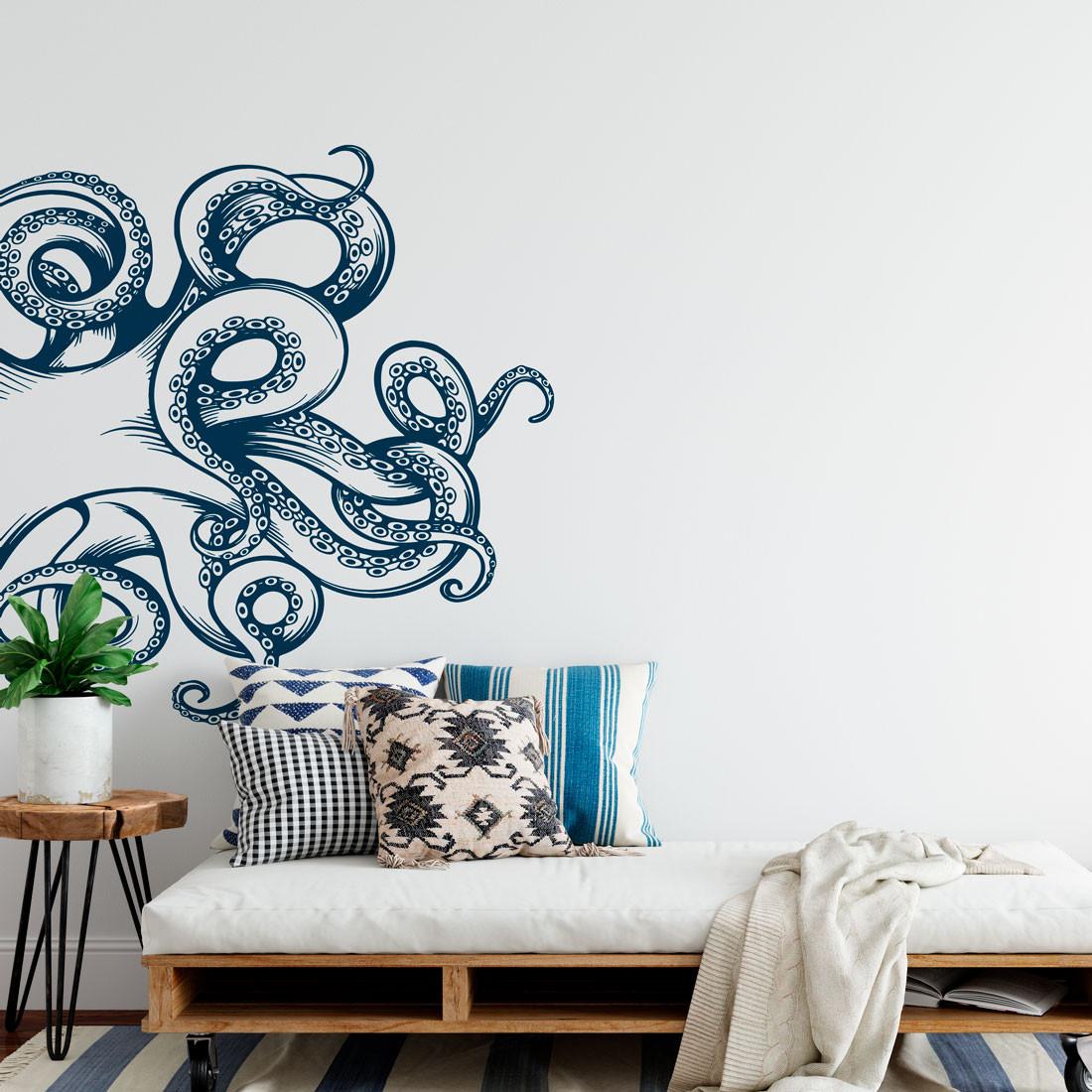 Adesivo de Parede Tentáculos